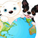 Earth Heart with Animals - GraphicRiver Item for Sale