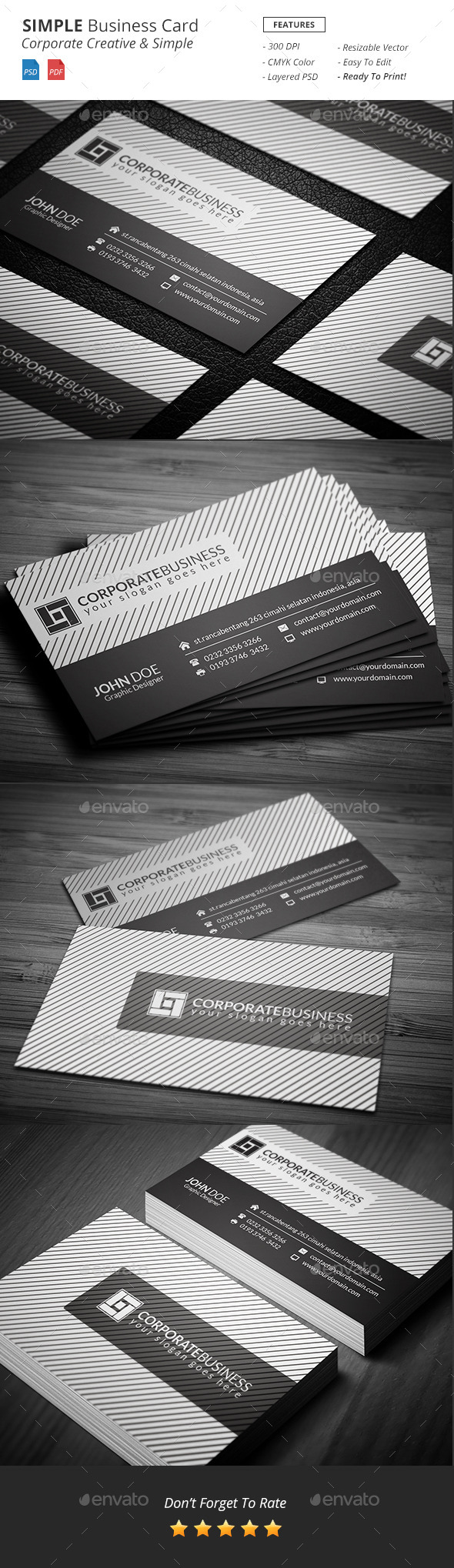 GraphicRiver Simple Corporate Business Card 11150287