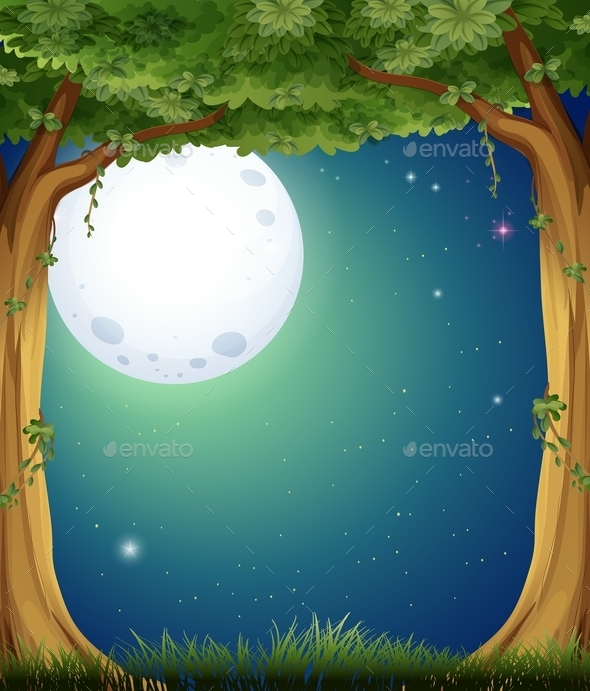 GraphicRiver Forest and Fullmoon 11150294