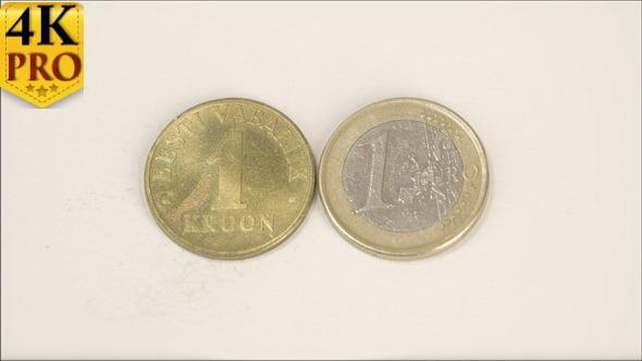 1 Estonian Old Gold Coin and A New 1 Estonia Euro