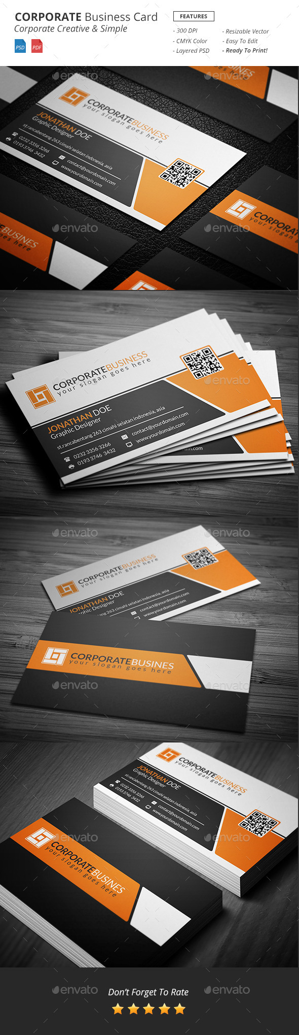 GraphicRiver Corporate Business Card Template 11150313