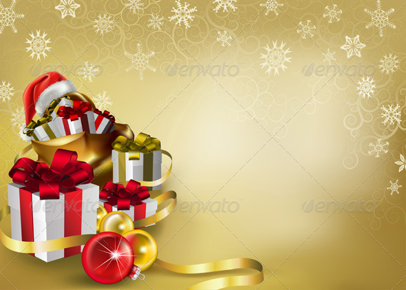 GraphicRiver Christmas background 137901