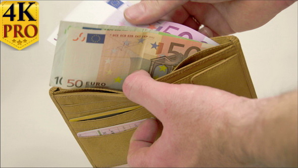 A Wallet with 650 Euro Bills