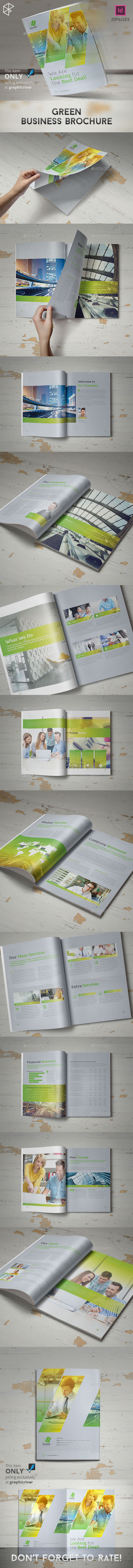 GraphicRiver Green Business Brochure 11150473