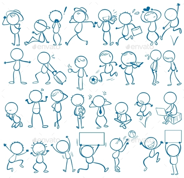 GraphicRiver Doodle People 11150668