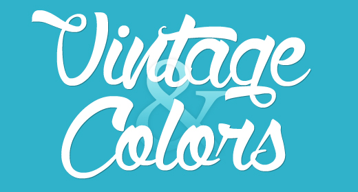 Vintage and Colors