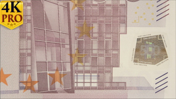 Left Detail of the 500 Euro Bill