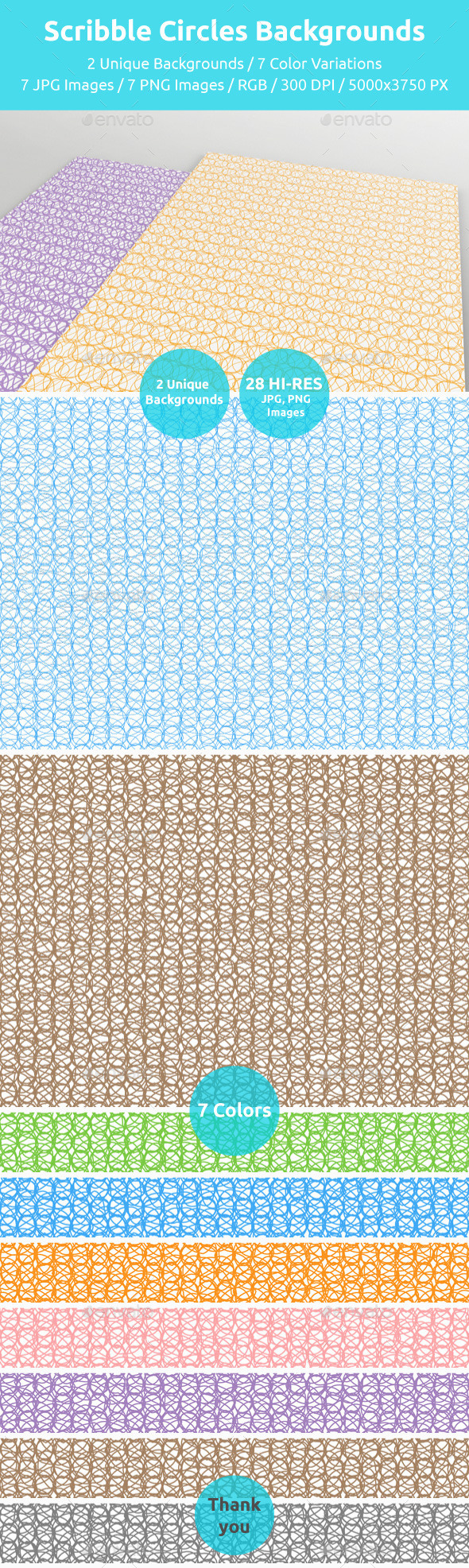GraphicRiver Scribble Circles Backgrounds 11151197