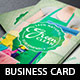 Green Cleaning Service Business Card Template - GraphicRiver Item for Sale