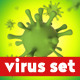 Virus and Bacteria 3D Illustration Set - GraphicRiver Item for Sale