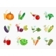 Vegetable Juice Icons - GraphicRiver Item for Sale