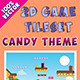 2D Game Tileset - Candy Theme