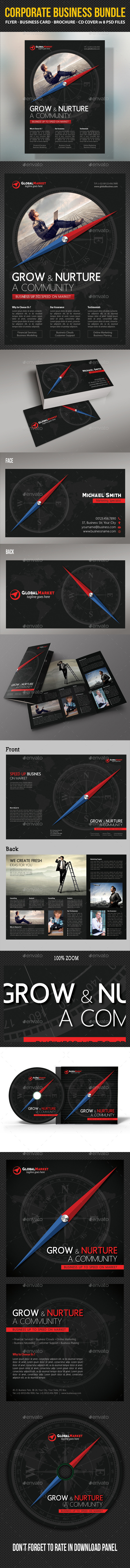 GraphicRiver 4 in 1 Corporate Business Bundle 11151450