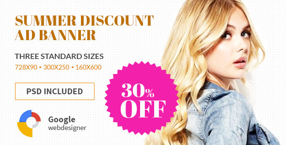 CodeCanyon Shopping Discount HTML5 Google Banner Ad 11151451