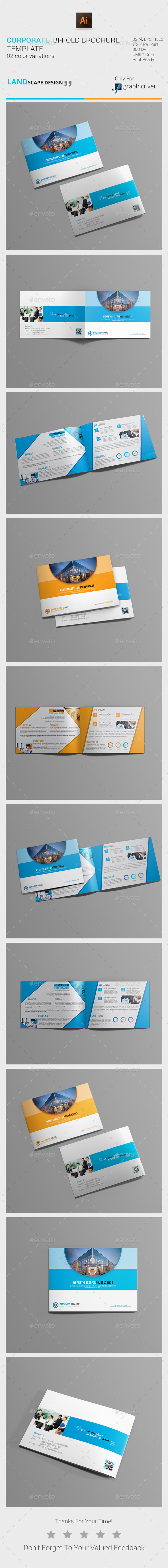 GraphicRiver Corporate Bi-Fold Brochure 11152617