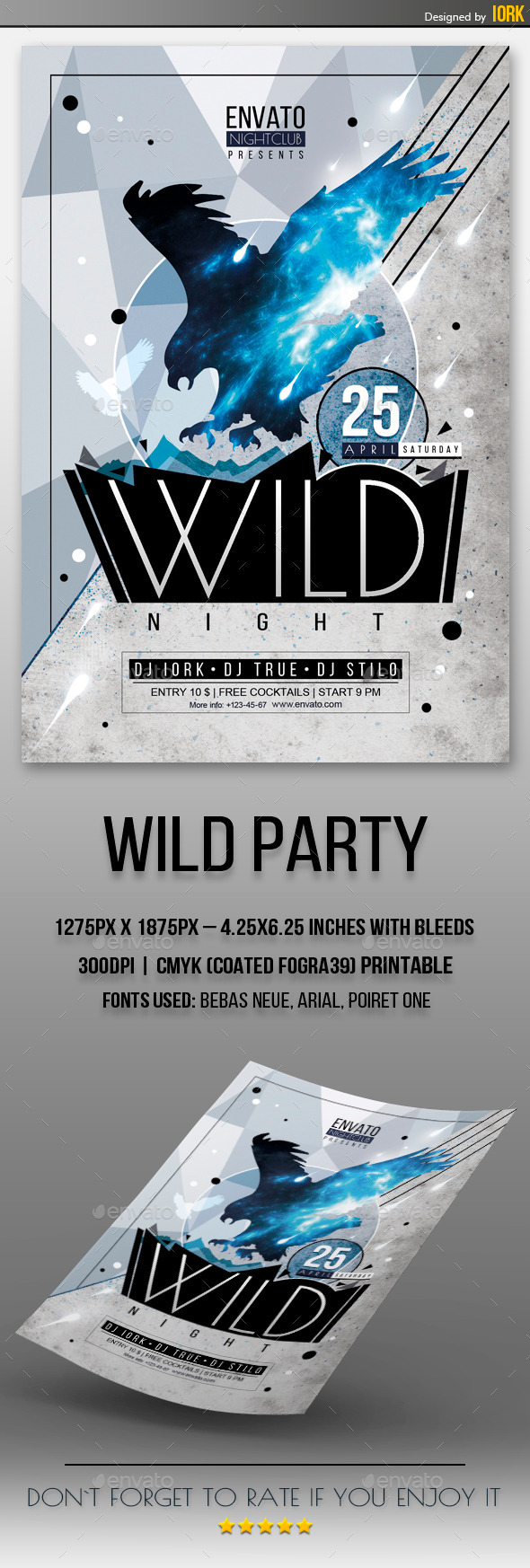 GraphicRiver Wild Party Flyer 11152675