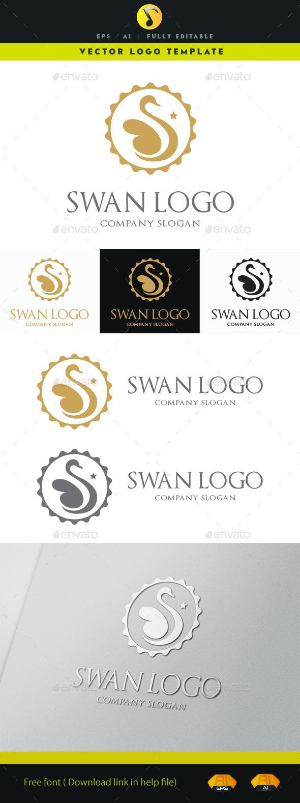 GraphicRiver Swan Logo 11152691
