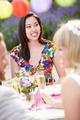 Female Guest At Wedding Reception