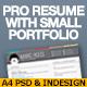 Pro Resume With Small Portfolio - GraphicRiver Item for Sale