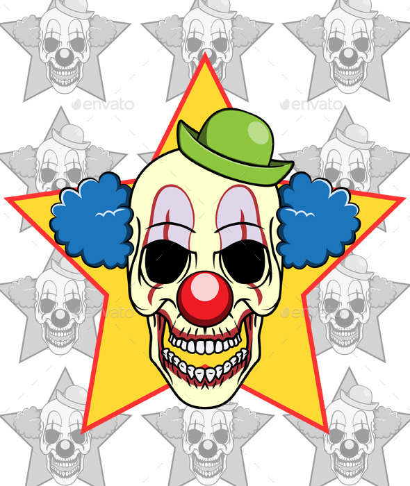 GraphicRiver Skull Clown 11153510