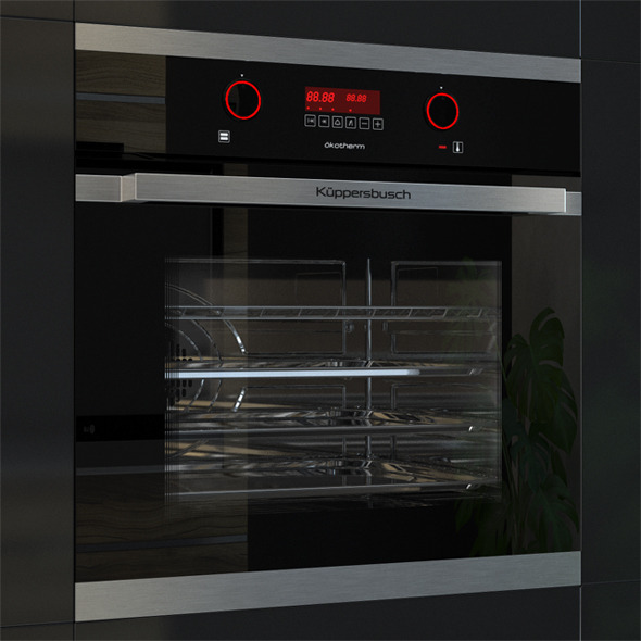Kuppersbusch EEB 6360 Oven Black  - 3DOcean Item for Sale