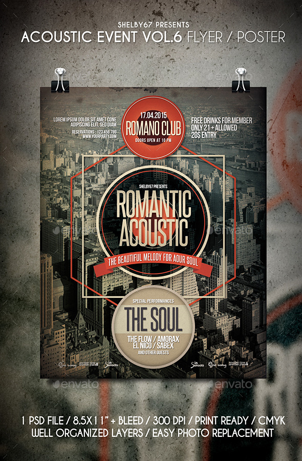 GraphicRiver Acoustic Event Flyer Poster Vol.6 11153737