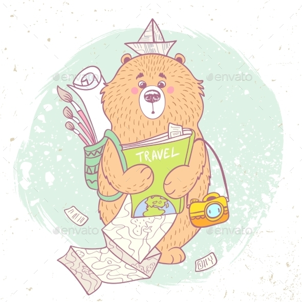 GraphicRiver Bear Travel 11153775