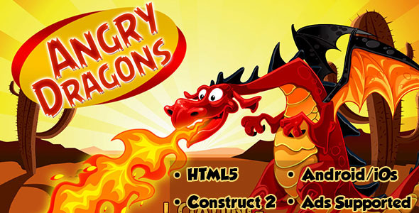 CodeCanyon Angry Dragons HTML5 Android CAPX 11153785
