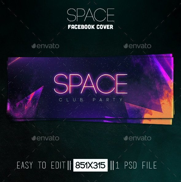 GraphicRiver Space Facebook Cover 11153884