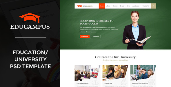 ThemeForest Educampus Education University PSD Template 11153960