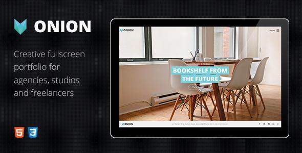 ThemeForest Onion Responsive & Creative HTML Portfolio Theme 11153968