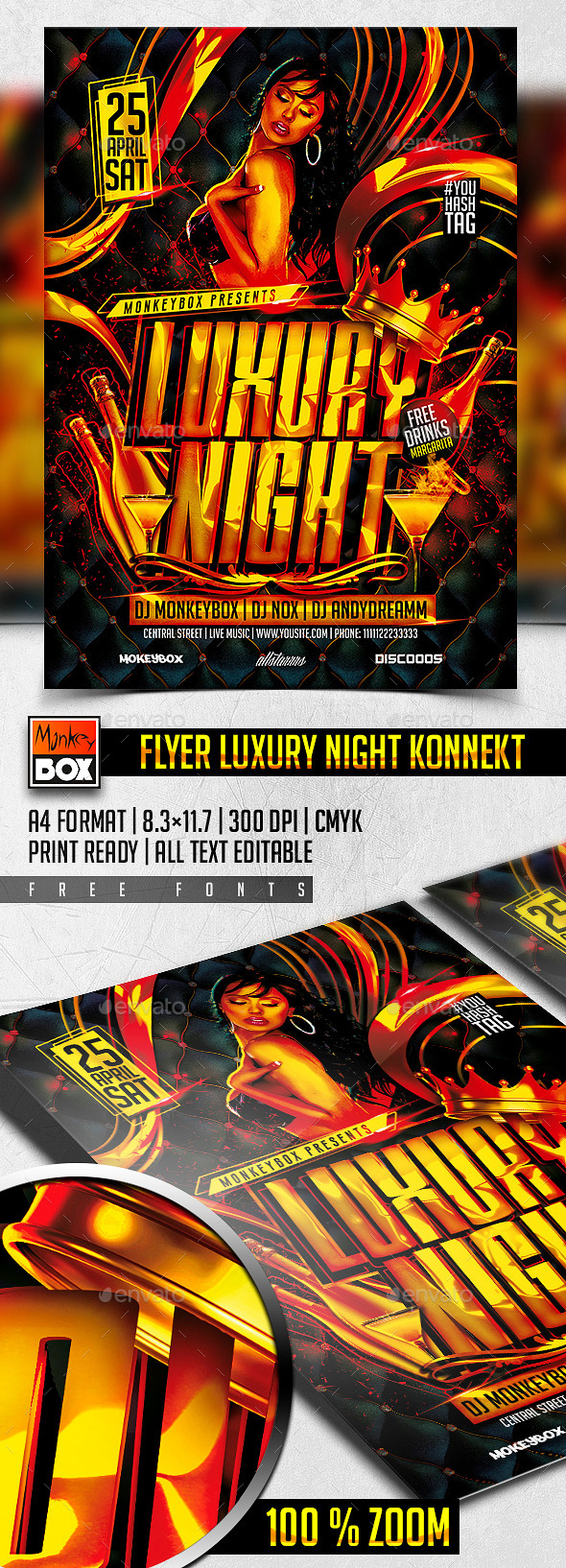 GraphicRiver Flyer Luxury Night Konnekt 11154135