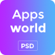 AppsWorld - Apps Landing PSD Template - ThemeForest Item for Sale