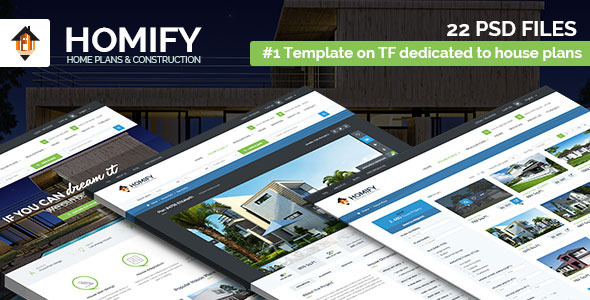 ThemeForest Homify House Plans & Construction PSD template 11154630