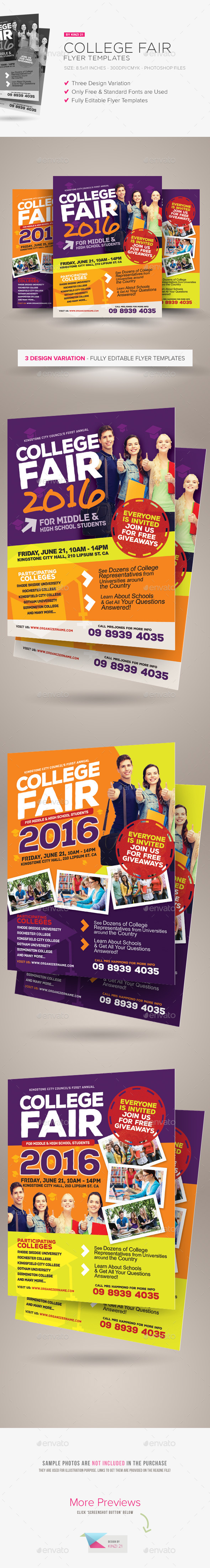GraphicRiver College Fair Flyer Templates 11154729