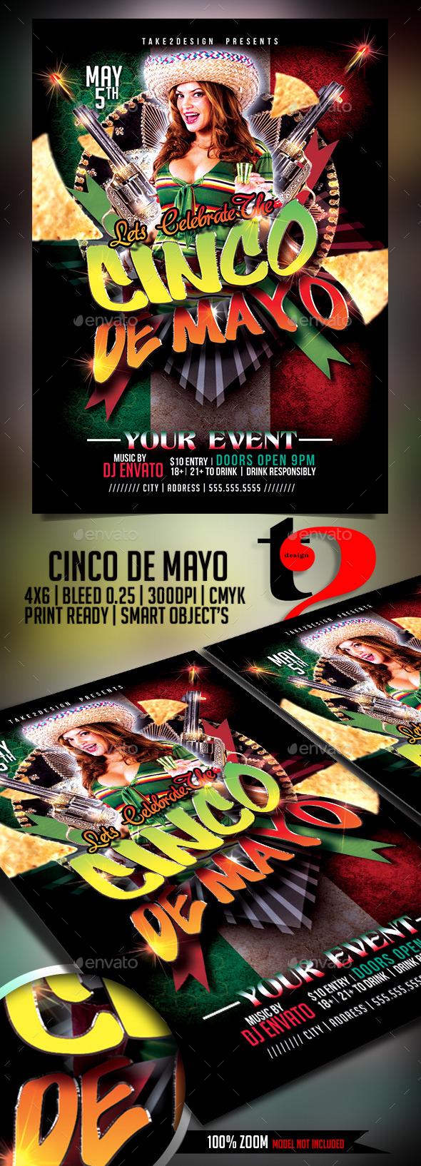 GraphicRiver Cinco de Mayo Flyer Template 11154833