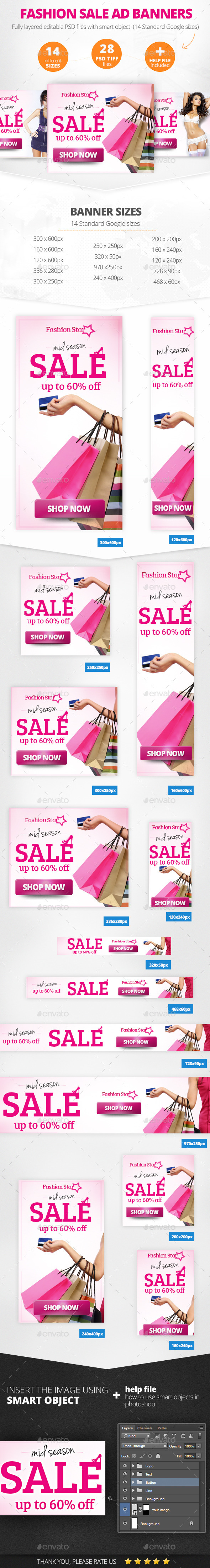 GraphicRiver Fashion Sale Ad Banners 11147522