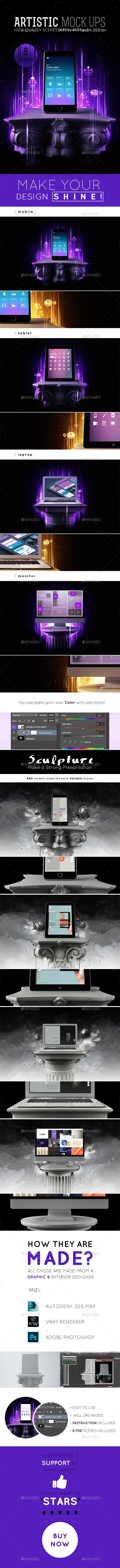 GraphicRiver 8 Artistic Mockups 11144186