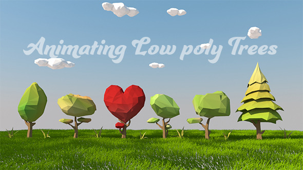Animating Low poly Trees Set - 3DOcean Item for Sale