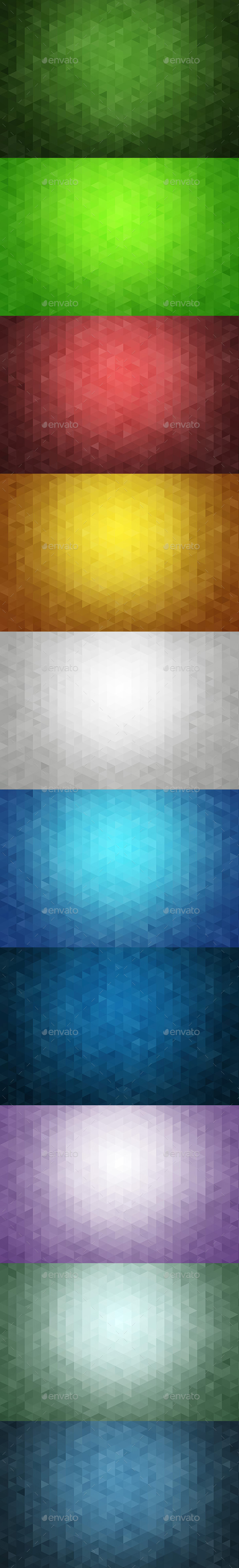 GraphicRiver Triangle Backgrounds 11155333