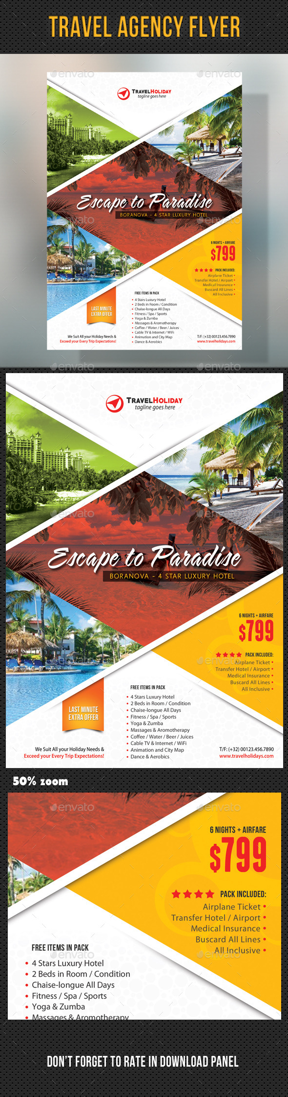 GraphicRiver Travel Agency Corporate Flyer 13 11155556