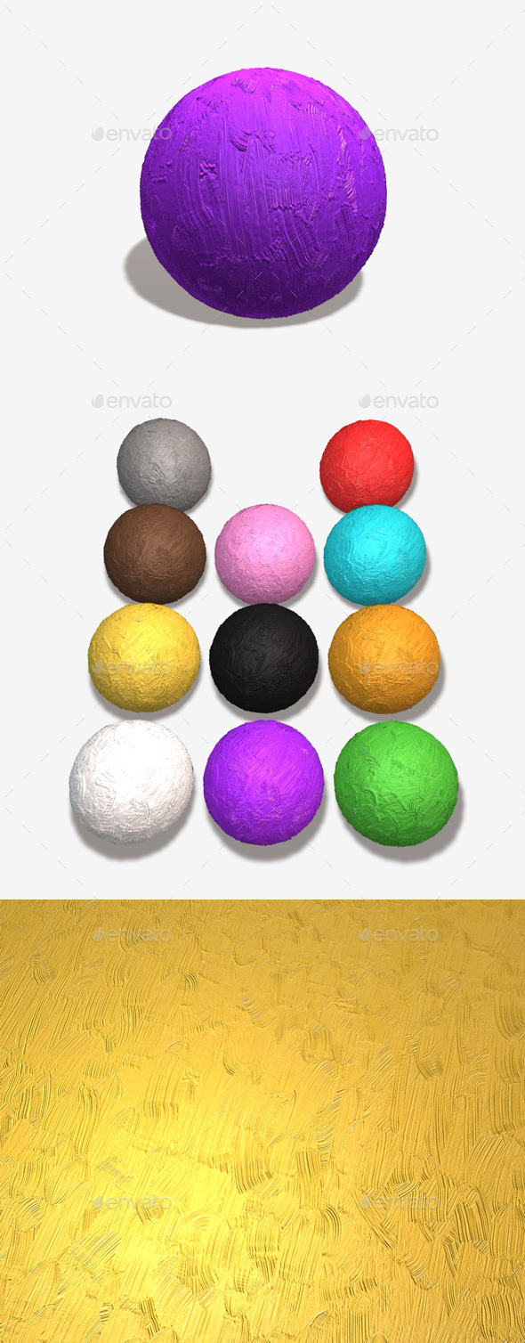 Thick Gloss Seamless Texture 11 Colours - 3DOcean Item for Sale