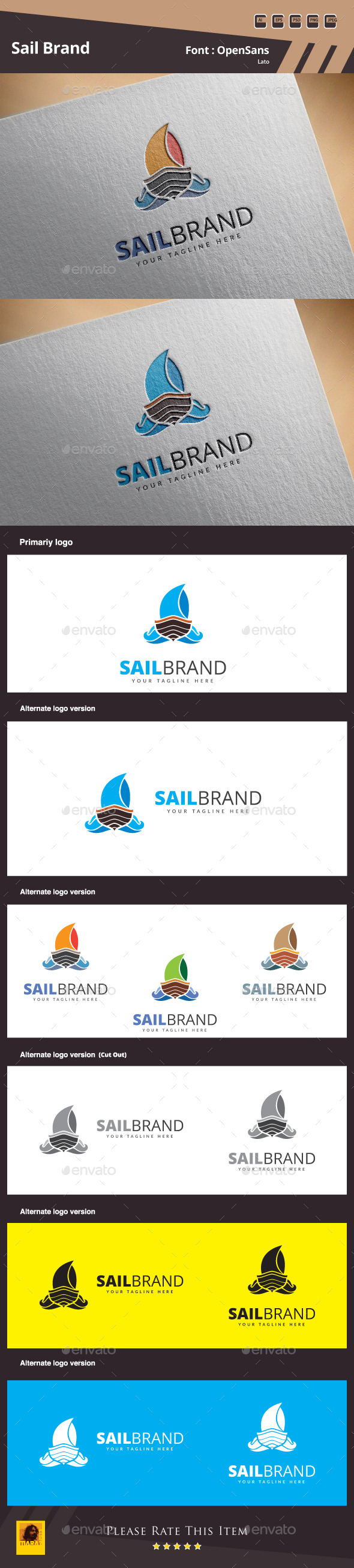 GraphicRiver Sail Brand Logo Template 11155754
