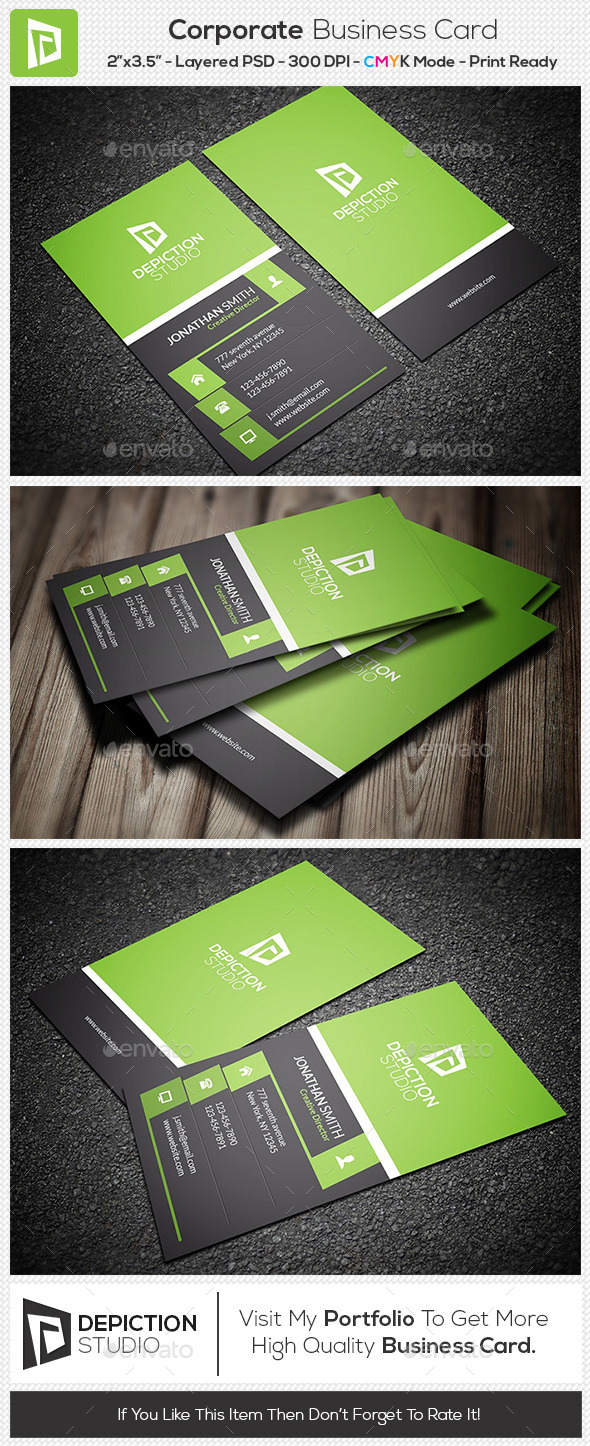 GraphicRiver Corporate Business Card 11155781