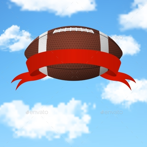 GraphicRiver Football Flying in the Sky 11155964