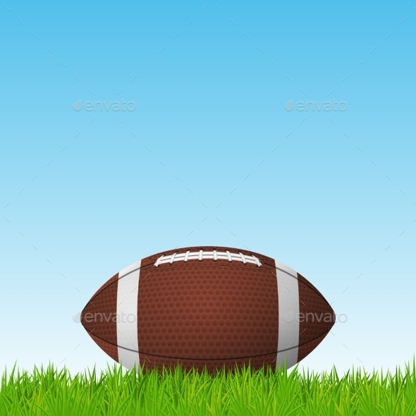 GraphicRiver Football on a Grass Field 11156138