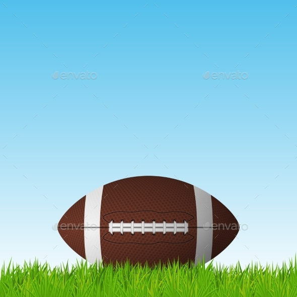 GraphicRiver Football on a Grass Field 11156174