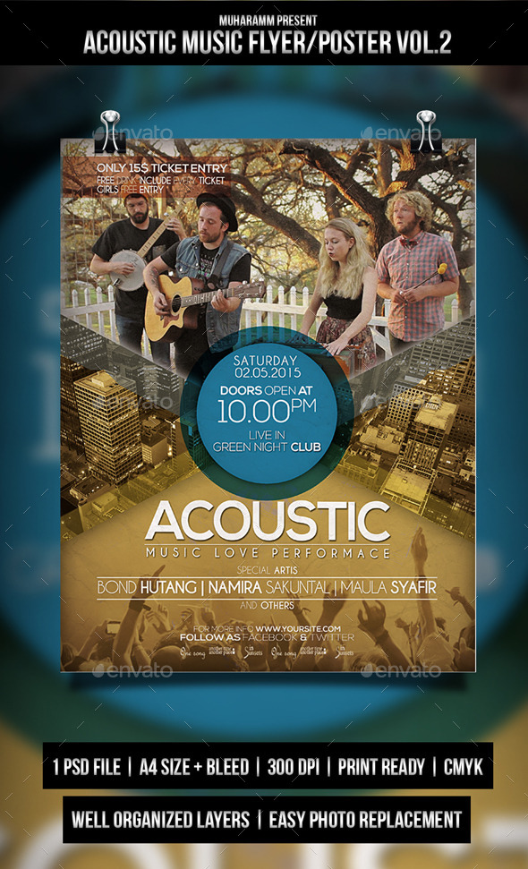 GraphicRiver Acoustic Music Flyer Poster Vol.3 11156286