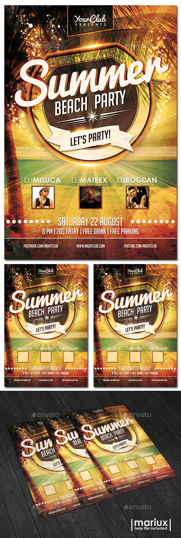 GraphicRiver Summer Beach Party Flyer 11156464