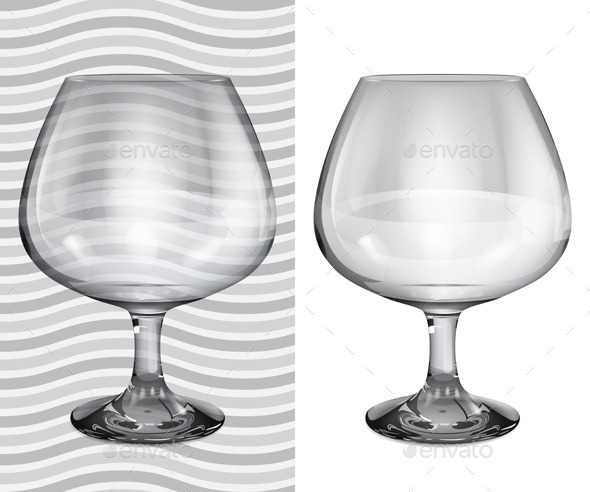 GraphicRiver Transparent and Opaque Brandy Glasses 11156472